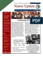Weaver Newsletter Fall 2013