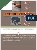 Antihipertensivos y Gestacion Farmacologia