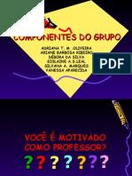 ABERTURA TRABALHO MOTIVAÇÃO PROFESSOR