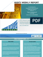 Weekly-commodity-report 15- Oct -2013 by EPIC RESEARCH