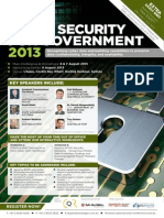 Cyber Security for Government 2013 Conference Brochure