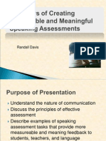 The Hows of Creating Measurable and Meaningful Speaking Assessment by Randall Davis