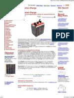 Equalization Charge - Storage