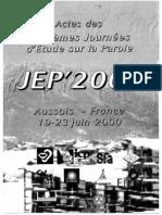 2000 - XXIIIe JEP - Aussois