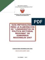 Guia Lineamientos Politicas Sectoriales Region Ales