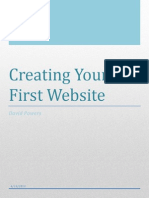 Creating Your First Website