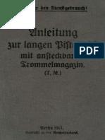Anleitung zur lange Pistole 08 mit ansteckbarem Trommelmagazin (T.M.) - (tafeln) - 1917
