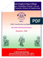IT2201 - Data Structures and Algorithms - Anna University - Previous Year Question Papers