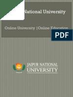 Jaipur National University | Online education