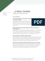 Agile Metrics That Matter[1]