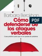 Berckhan Barbara - Como Defenderse de Los Ataques Verbales