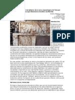 Caracterización de tableros de la zona arqueológica de Tula