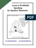 121 Secrets to Profitable Speaking