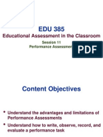 EDU 385 - Session 11 Performance Assessment