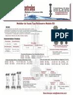 Medidor de Vazao Tipo Rotametro Modelo Bli