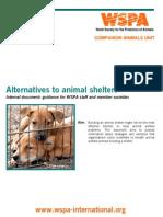 Alternatives to Animal Shelters
