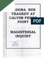 Magisterial Inquiry report (on the Calvim tragedy, Aldona, Goa, India)