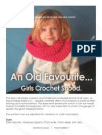 Girls Crochet Snood (Cowl, Tube Scarf)