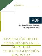 Evaluacion_aprendizajes_aula, Conferencia Dr. Esquivel