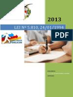 Lei Estadual nº 5.810,24-01-94