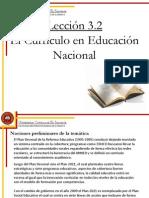 Lección 3.2 El currículo en la educación nacional