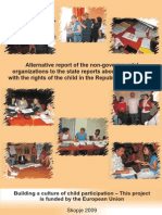 Alternative Report of the Non-governmental Organizations to the State Reports About the Situation With the Rights of the Child in Republic of Macedonia