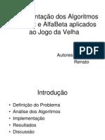 Algoritmos Minimax e AlfaBeta