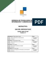 7. Uso Del Servicio Filez V01