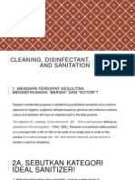 Cleaning, Disinfectant, And Sanitation