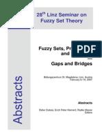 28th Linz Seminar on Fuzzy Set Theory, 2007