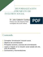 Julio Calderón-POLITICAS DE INCLUSION SOCIAL