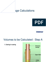 Oilwell Cementing Calculation