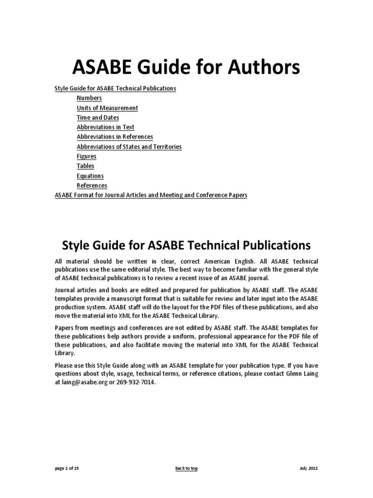 style manual for biological journals