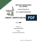 Unidad 1_ Morfología deñ Robot