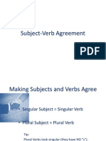 Subject-Verb Agreement II