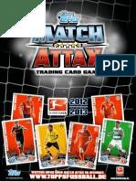 Bundesliga Match Attax 12-13 Lomo y Tapa