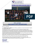 Vth 2013 Sponsorship Flyer Ontario Cup 2013 Final