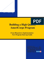 AmeriCorps New Program Startup Guide