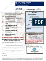 2014 New York Yankees Luncheon Sponsorship Response Form