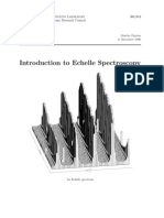 Introduction to Echelle Spectroscopy