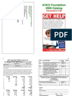 AVKO's 2009 Catalog (Printable/Foldable)