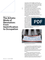 THE ARTISTIC MODE OF REVOLUTION