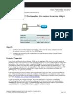Configuration d'un routeur de service intégré