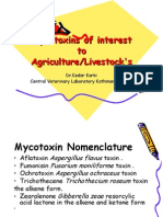 Mycotoxins of interest to Agriculture/Livestock's