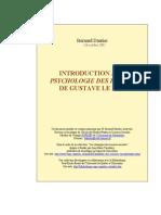 Introduction a La Psychologie Des Foules de Gustave Le Bon- Por B Dantier