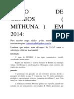 previsões GÊMEOS 2014