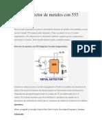 Simple Detector de Metales Con 555 Timer