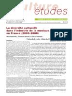 La diversité culturelle dans le marché du disque en France
