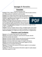 Postulates, Defs, And Theorems