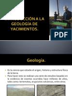 INTRODUCCIÓN A LA GEOLOGÍA DE YACIMIENTOS